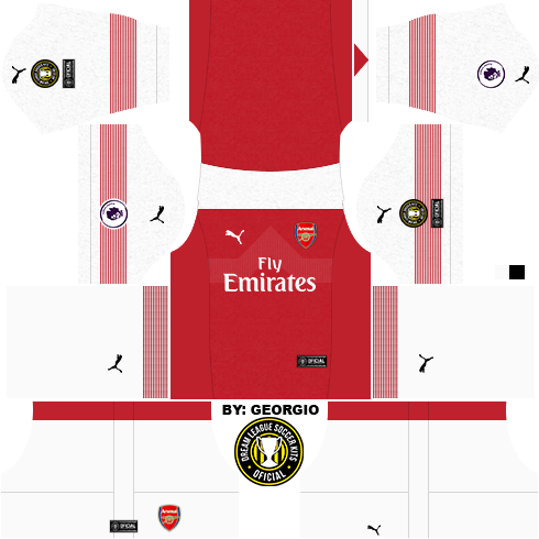 36e077a9cfe Arsenal FC 2018-2019 Kit   Logo - Dream League Soccer