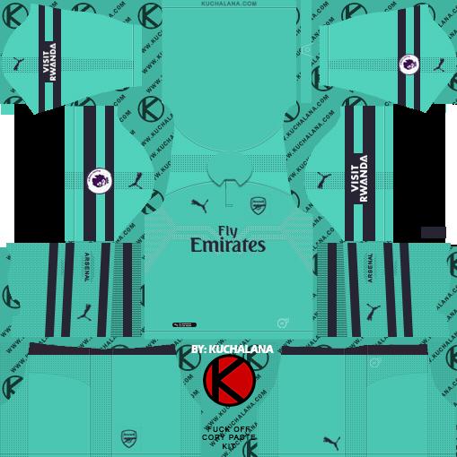 Arsenal FC 2019-2020 Kit & Logo - Dream League Soccer