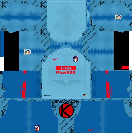 Atletico Madrid Kits   Logo  2018-2019  Dream League Soccer df499570e
