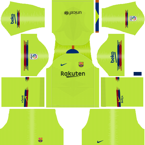 Barcelona Away Kit 2018 - 2019