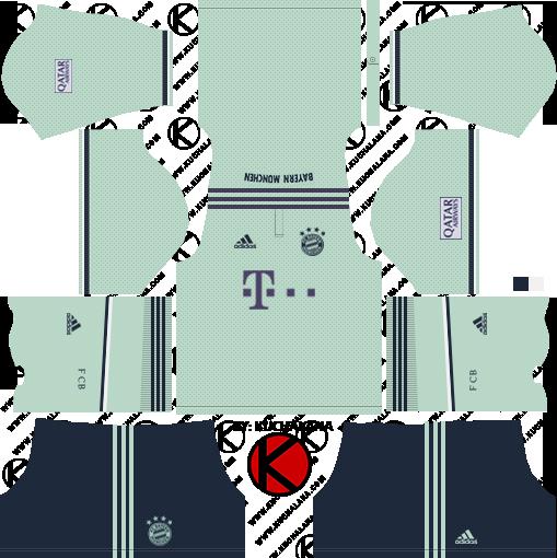 low priced 1aeb7 e09ac Bayern Munich 2019-2020 Kits - Dream League Soccer