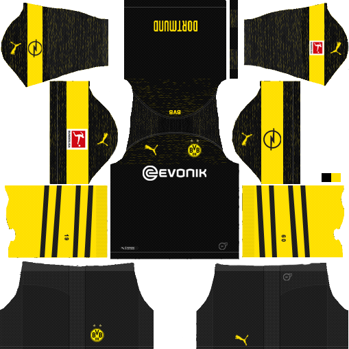 Borussia Dortmund 2019 2020 Kits Dream League Soccer