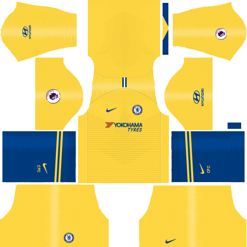 Chelsea Away Kit 2018-2019 Dream League Soccer