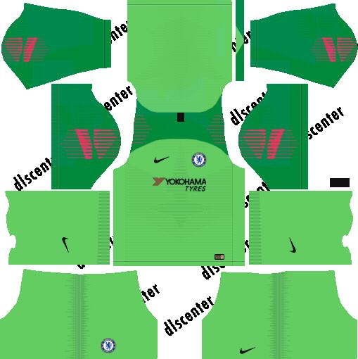 Chelsea GK Home Kit 2018-2019 Dream League Soccer