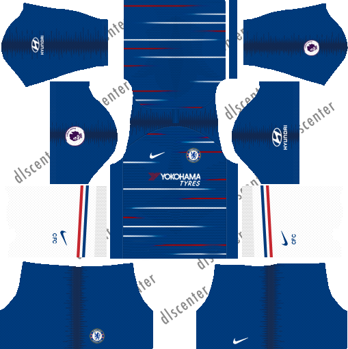 Chelsea Home Kit 2018-2019 Dream League Soccer