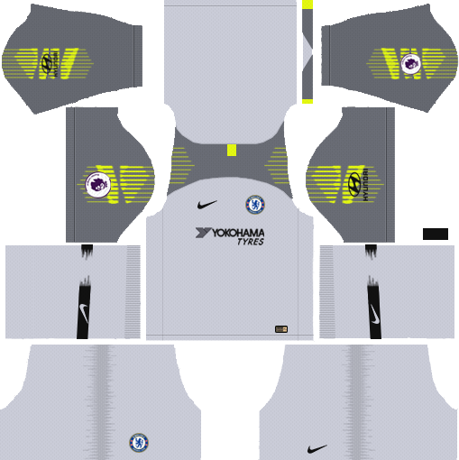 Chelsea GK Away Kit 2018-2019 Dream League Soccer