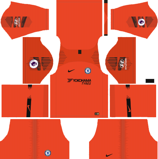 Chelsea GK Third Kit 2018-2019 Dream League Soccer