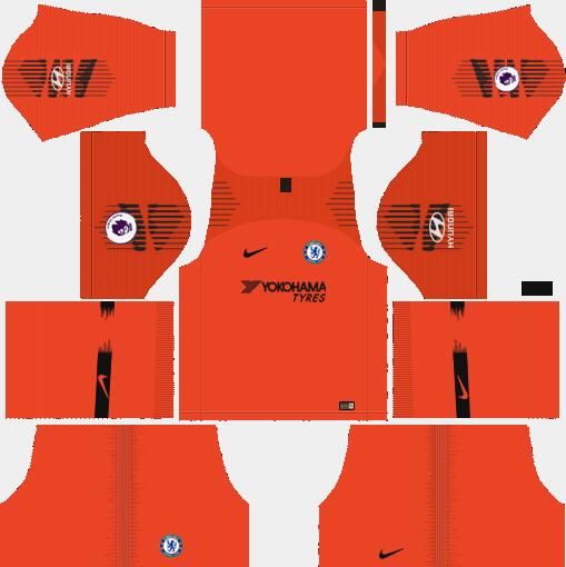 Chelsea GK Third Kit 2018-2019 Dream League Soccer