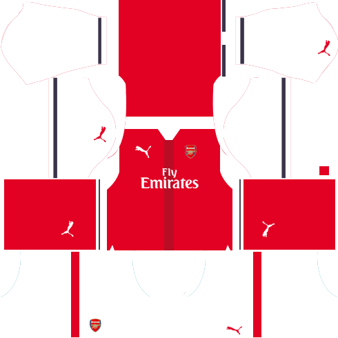 Arsenal Home Kits 2016-2017