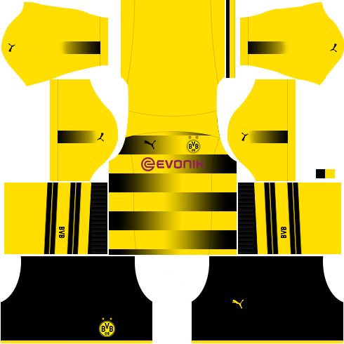 Borussia Dortmund Home Kit Dream League Soccer