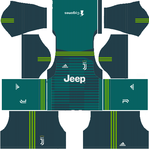 Juventus Goal Keeper Home Kit Dream League Soccer