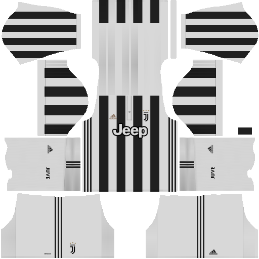 Juventus Home Kit Dream League Soccer 2017 - 2018