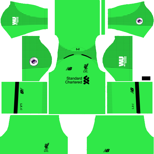 Liverpool GK Away Kit 2018-2019 Dream League Soccer