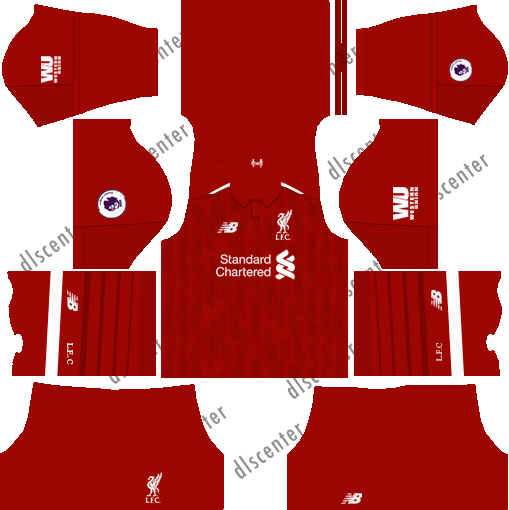 Liverpool Home Kit 2018-2019 Dream League Soccer