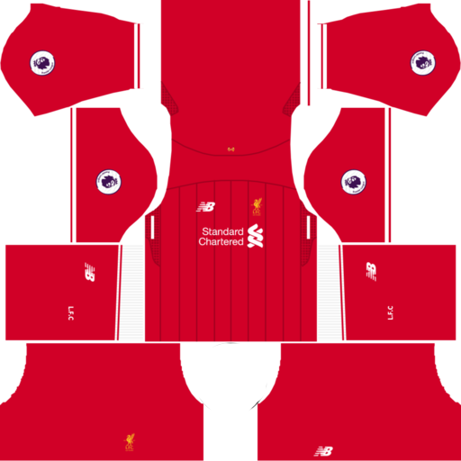 Liverpool Home Kit 2017-2018 Dream League Soccer