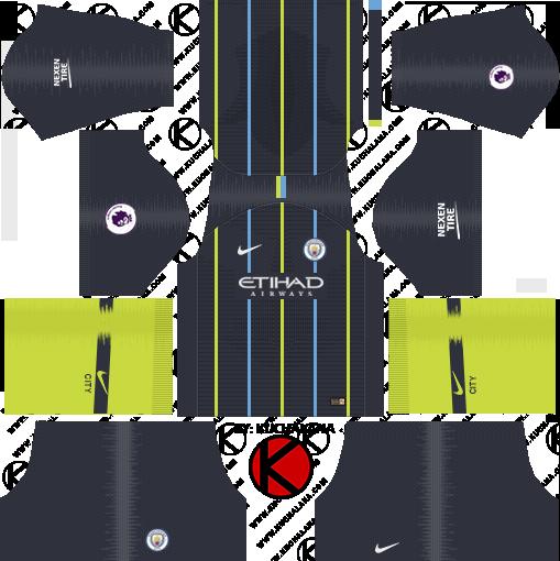 best loved 0114d 7ba6d Manchester City 2019-2020 Kits & Logo - Dream League Soccer
