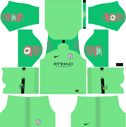 Manchester City 2019-2020 Kits & Logo - Dream League Soccer