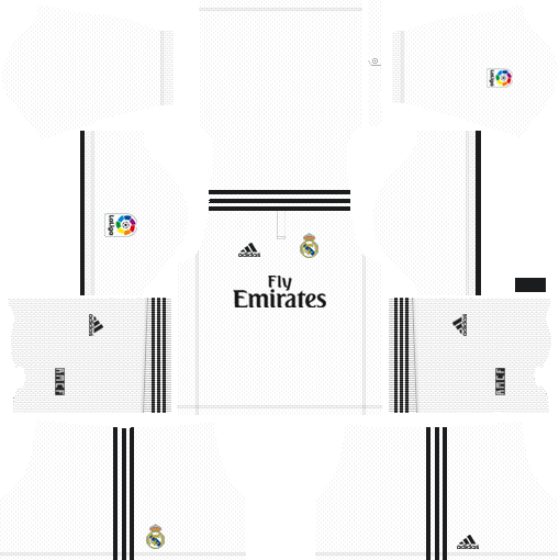 Real Madrid Home Kit 2018-2019 DLS