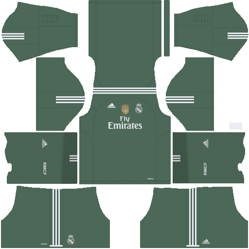 Real Madrid Goalkeeper Home Kit 2017/2018 DLS
