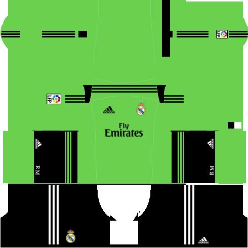 Real Madrid Goalkeeper Away Kit 2013-2014