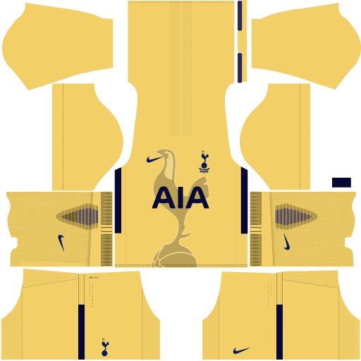 Tottenham Goalkeeper Home Kit DLS 2017 - 2018
