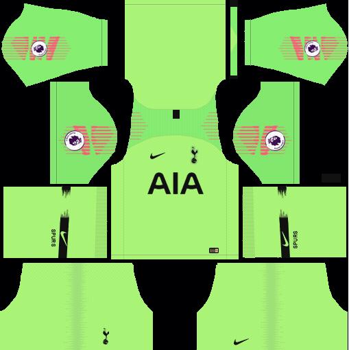 Tottenham GK Away Kit 2018-2019 Dream League Soccer