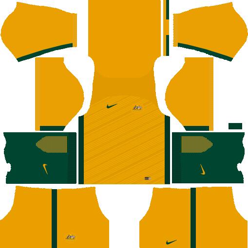 c90b39ca5fd Australia 2018 World Cup Kits & Logo URL Dream League Soccer - DLSCenter