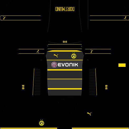 new styles 6ef23 03b98 Borussia Dortmund 2019-2020 Kits - Dream League Soccer