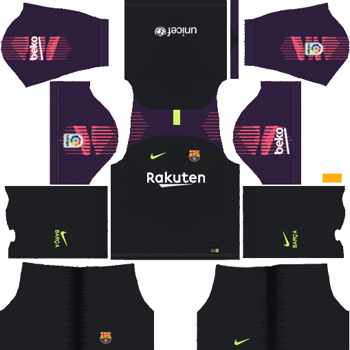 Barcelona GK Home Kit 2018 - 2019