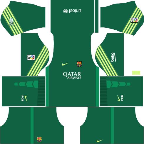 Barcelona Goalkeeper Home Kit 2015-2016