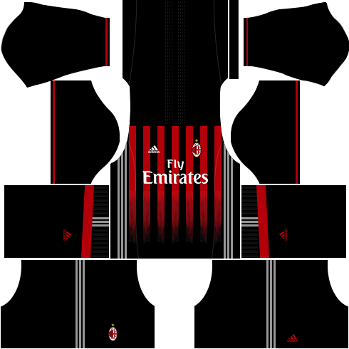 920030785 AC Milan Kits   Logo URL Dream League Soccer - DLSCenter
