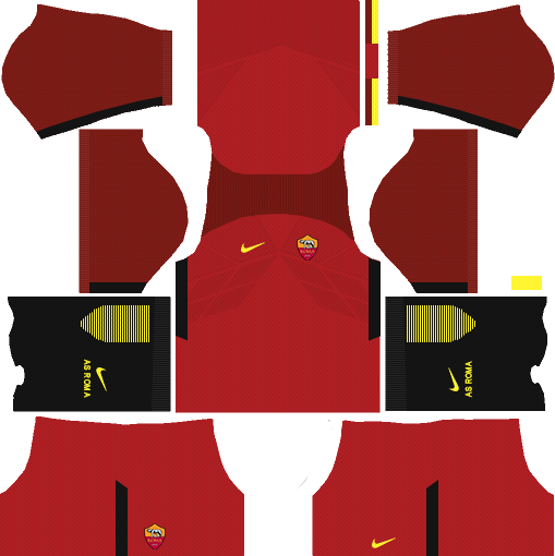 f8262b2d4 AS Roma 2018-2019 Kits   Logo - Dream League Soccer