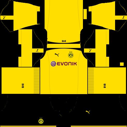 Borussia Dortmund 2019-2020 Kits - Dream League Soccer