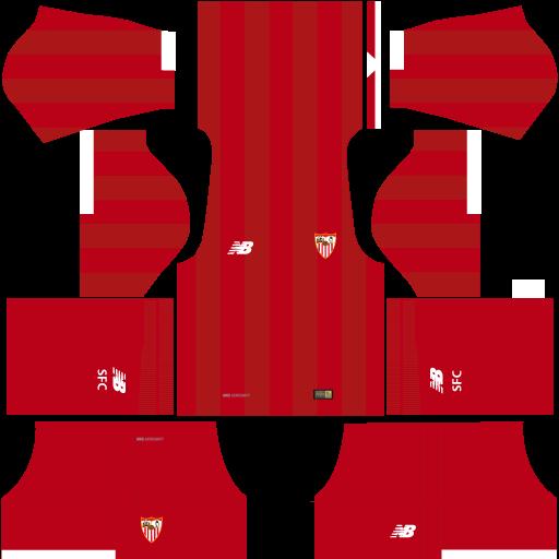 Sevilla Away Kit 17-18 for Dream League Soccer