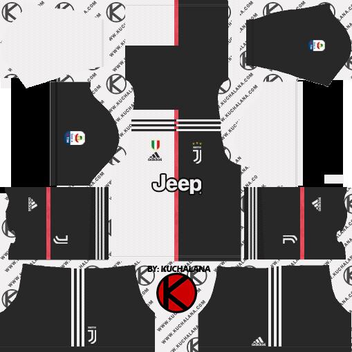 the latest 4ec73 9f217 Juventus 2019-2020 Kits & Logo Dream League Soccer